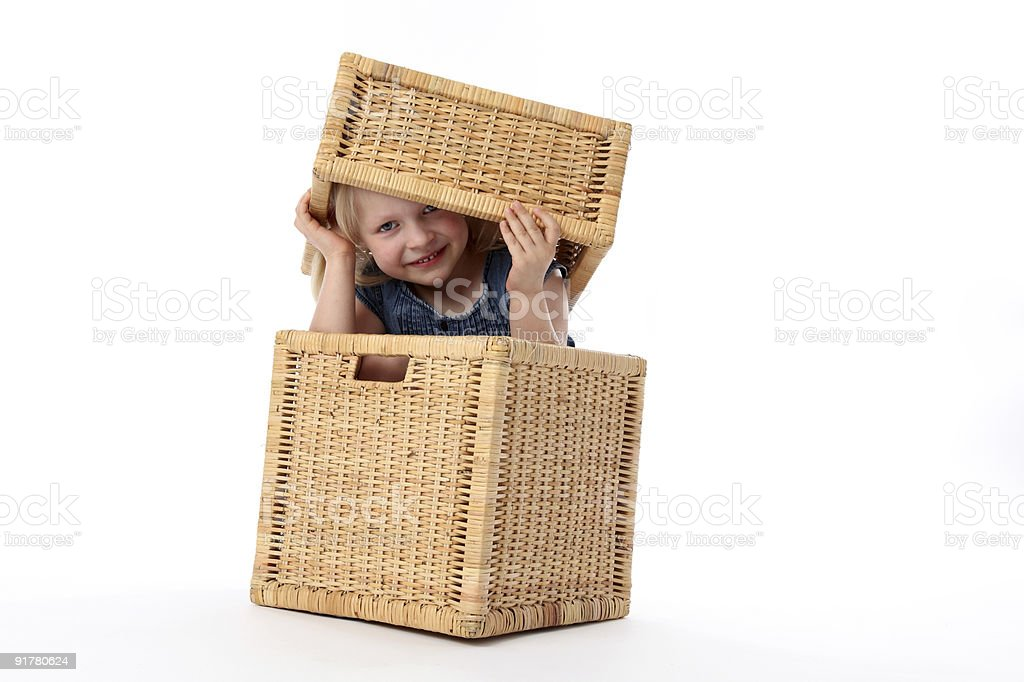 Child in box royalty-free stock photo