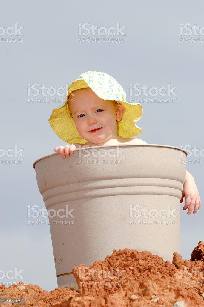 Child in Bucket II royalty-free stock photo