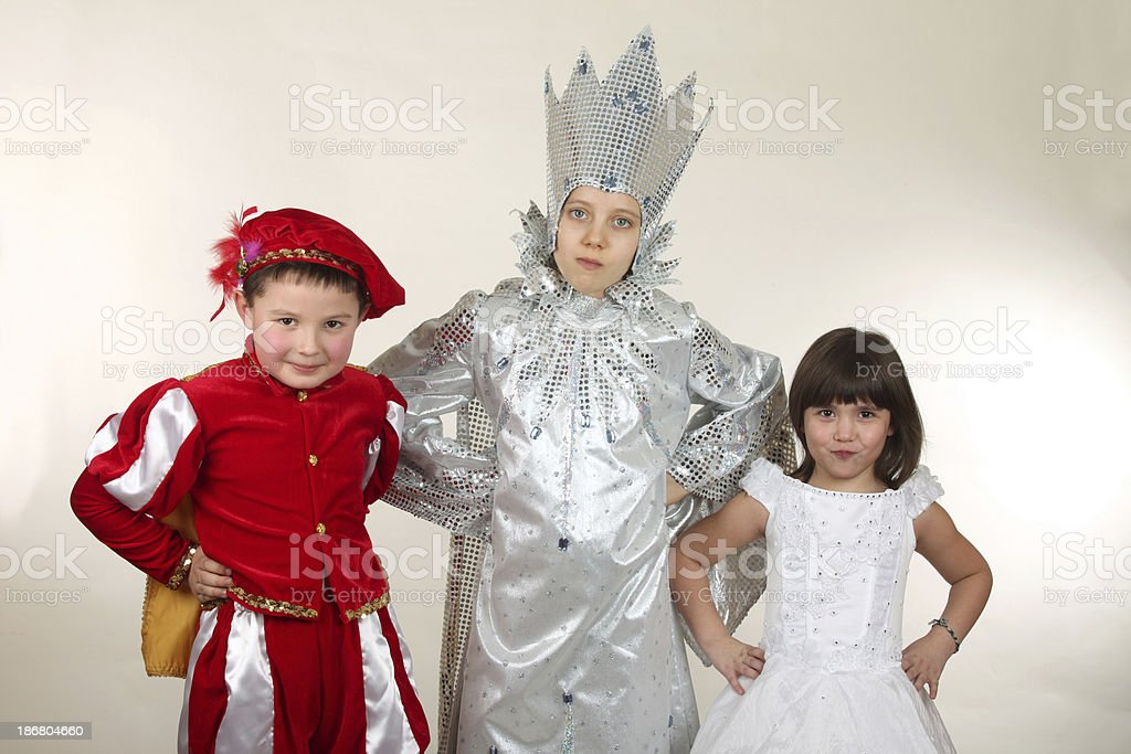 Child in carnival costume stock photo
