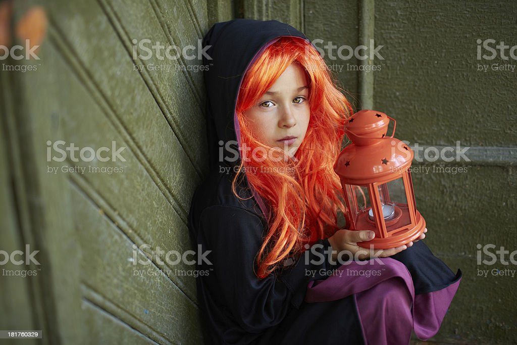 Child in Halloween attire royalty-free stock photo