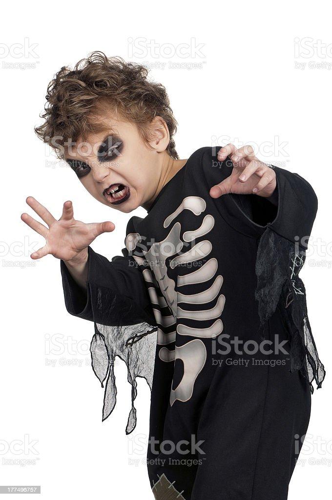 Child in halloween costume stock photo