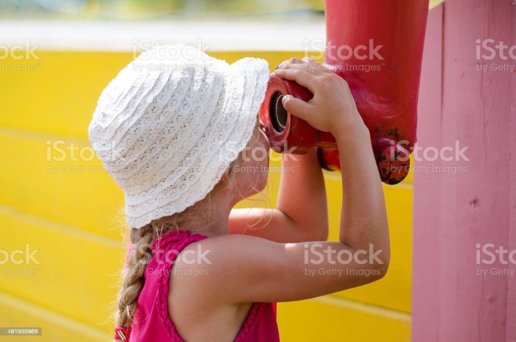 child in playground stock photo