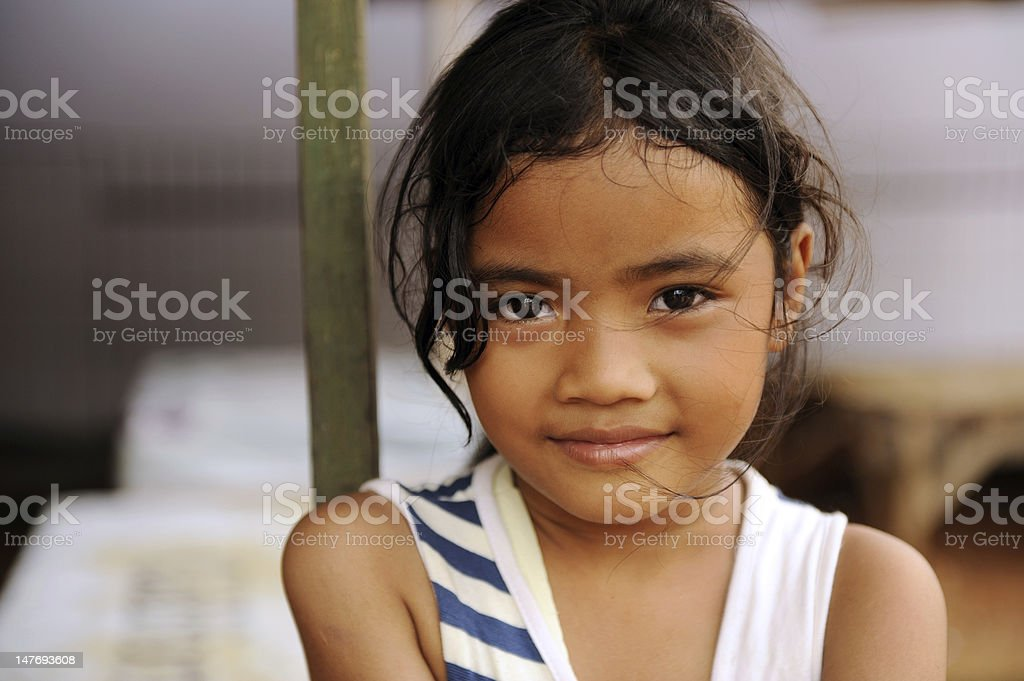 Child in Poverty stock photo