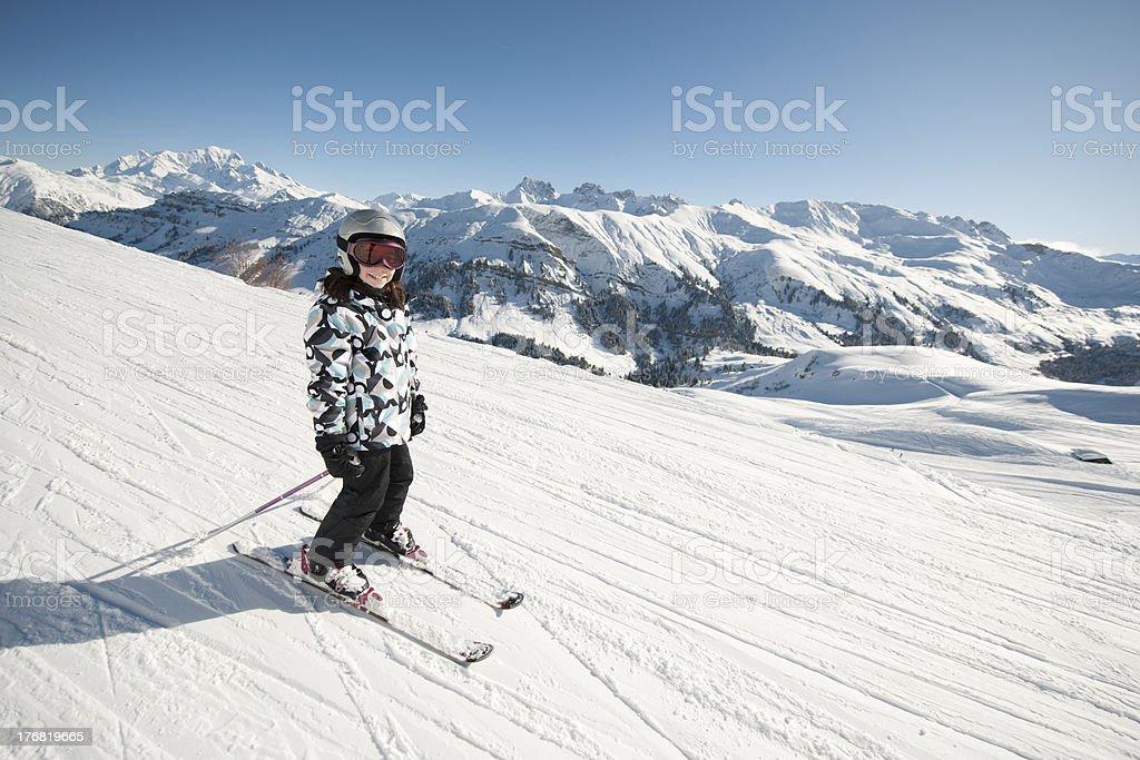Child in ski royalty-free stock photo
