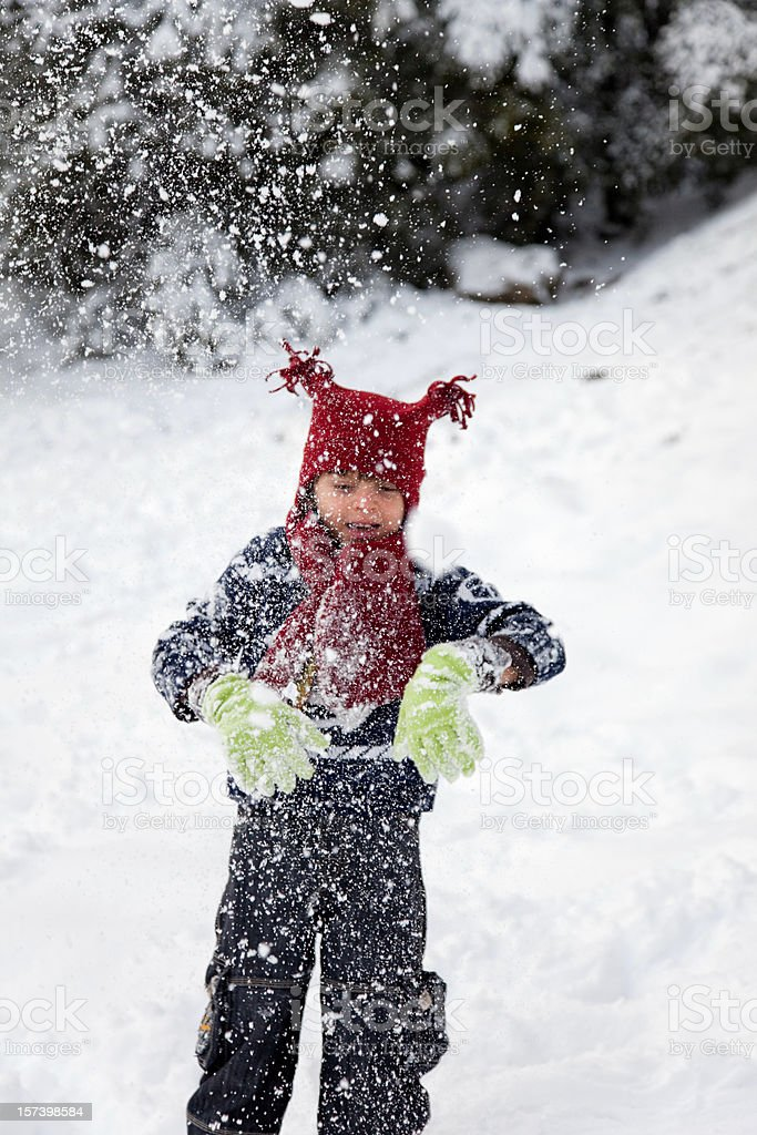 Child In Snow royalty-free stock photo