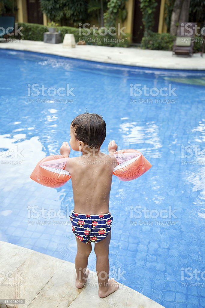 Child in swimming pool royalty-free stock photo