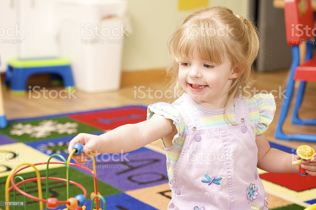 child in the daycare royalty-free stock photo