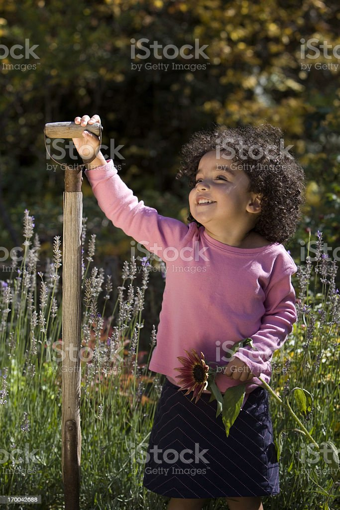 Child in the Garden royalty-free stock photo