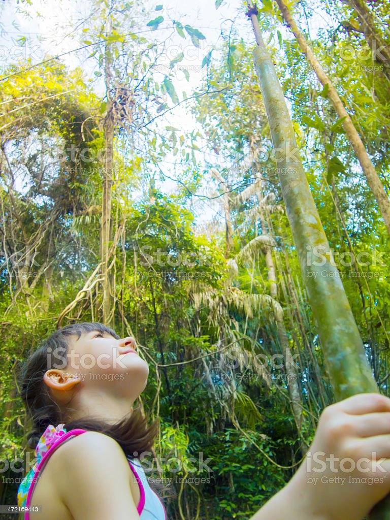 Child in the jungle royalty-free stock photo