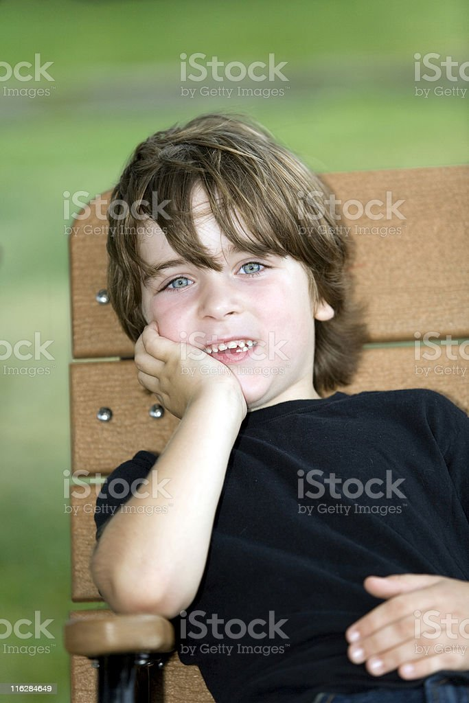Child in the Park stock photo
