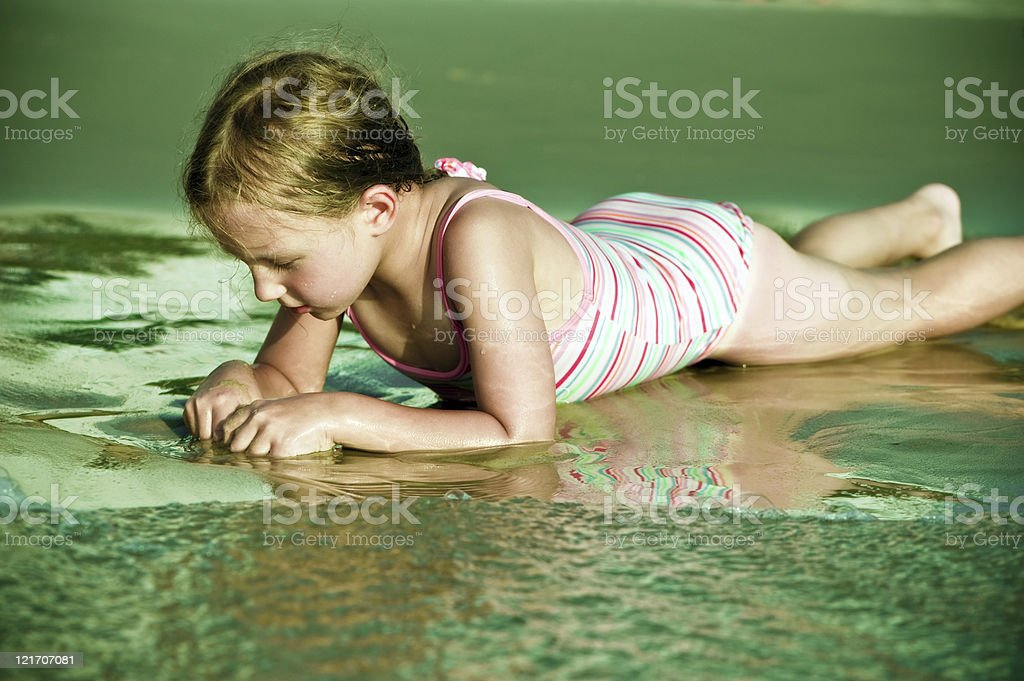 Child in the sea royalty-free stock photo