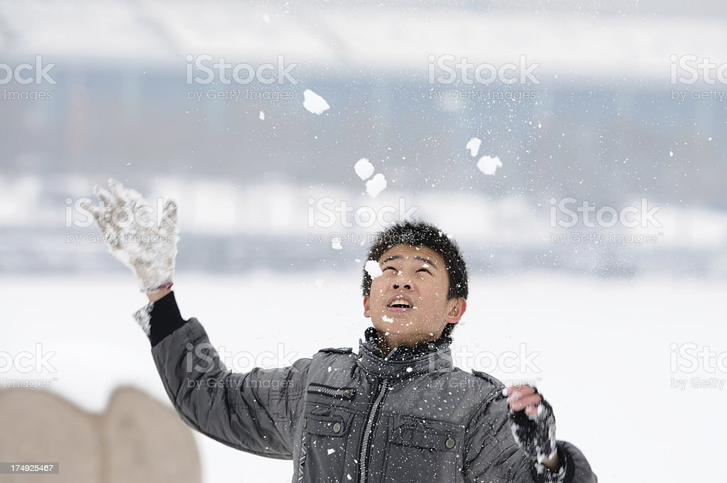 Child in the snow royalty-free stock photo