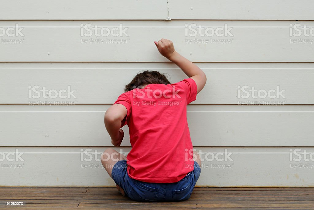 Child in trouble. stock photo