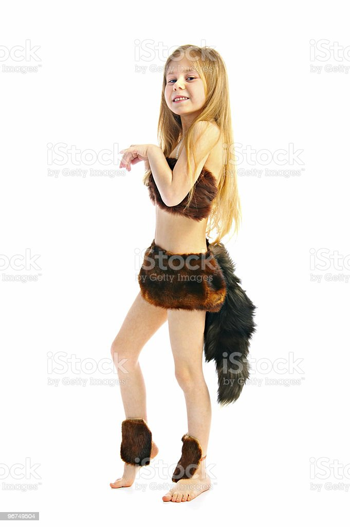 child in whimsical costume royalty-free stock photo