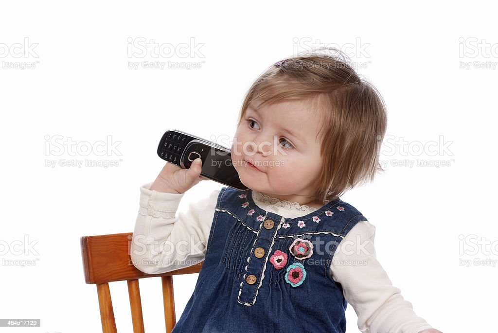 Child is calling royalty-free stock photo