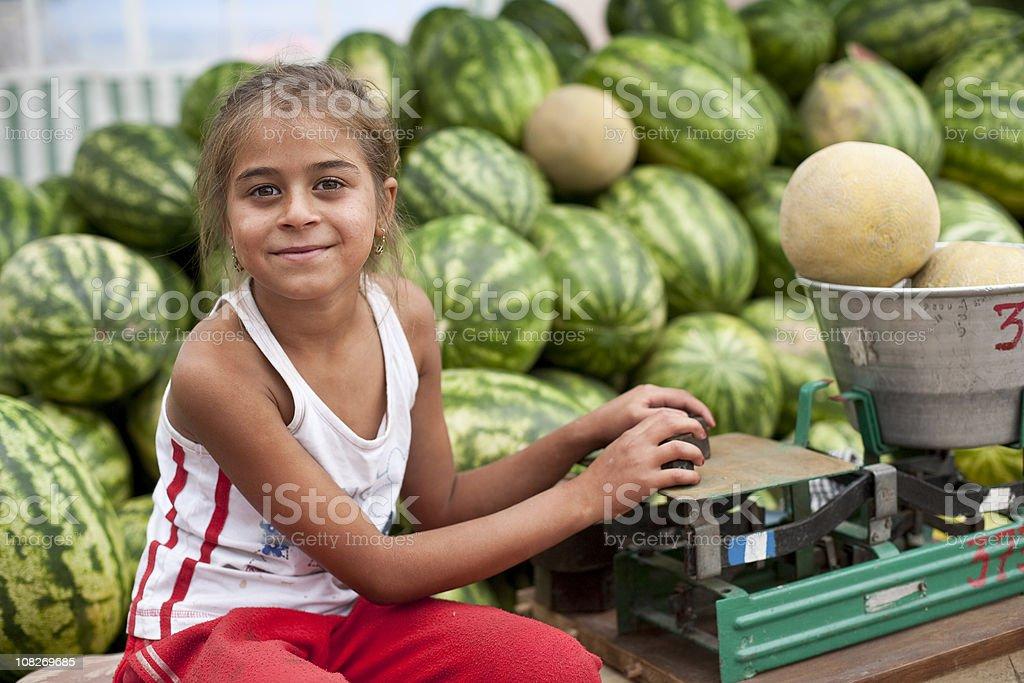 Child labor royalty-free stock photo