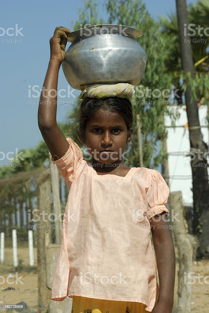 Child labour royalty-free stock photo