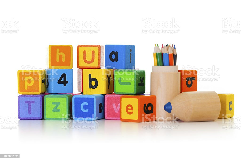 Child learning royalty-free stock photo