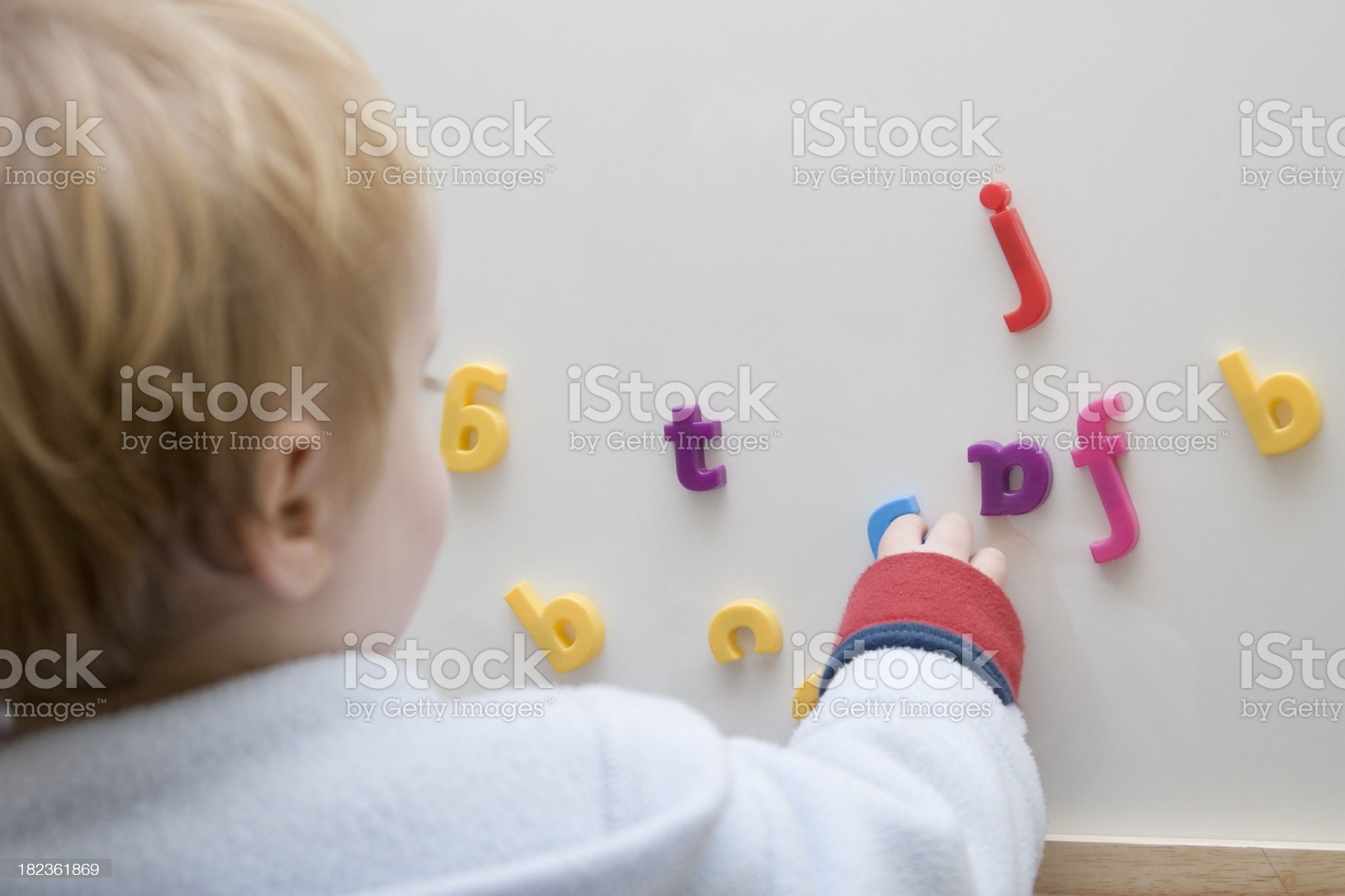Child Learning to Spell royalty-free stock photo