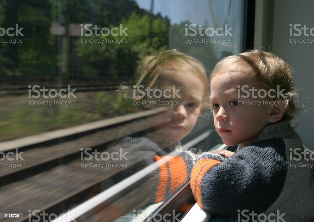 Child Looking Back royalty-free stock photo