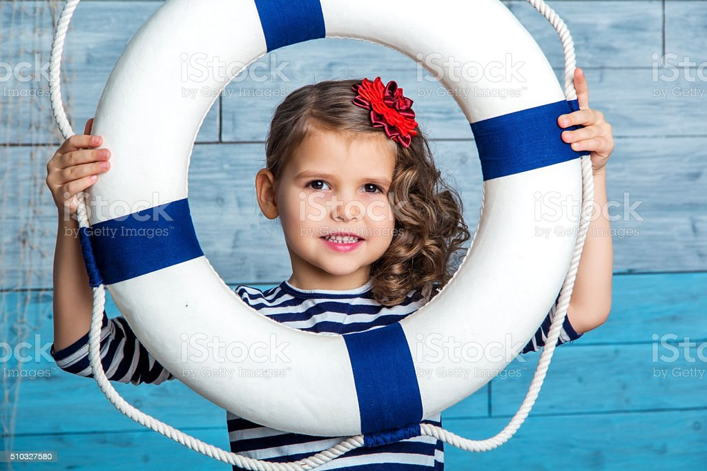 child looking through a lifeline stock photo