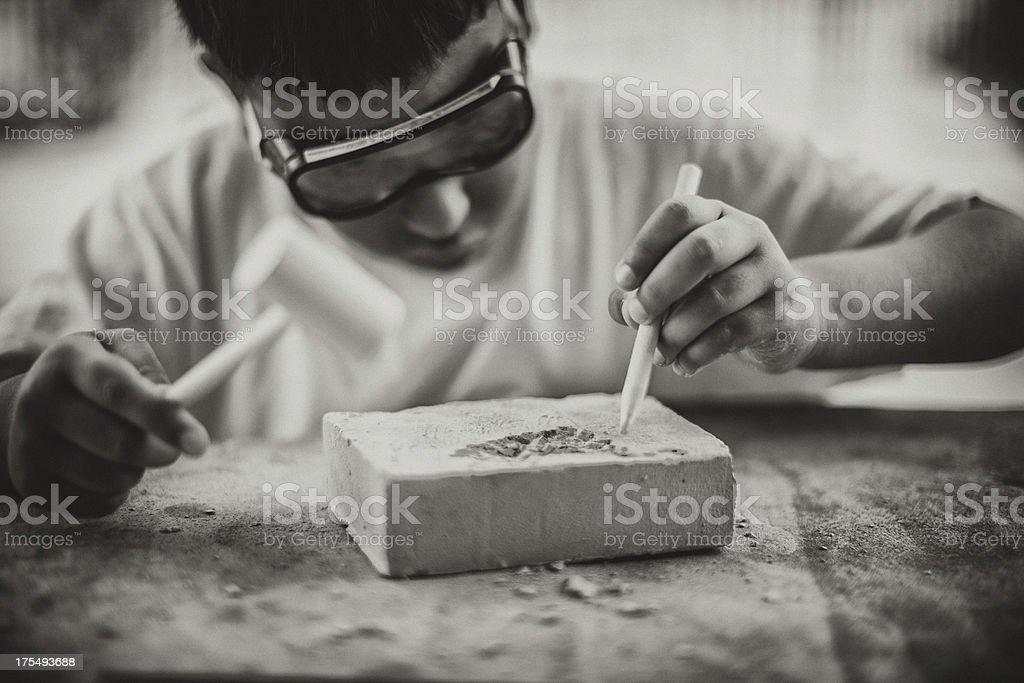 child making art royalty-free stock photo