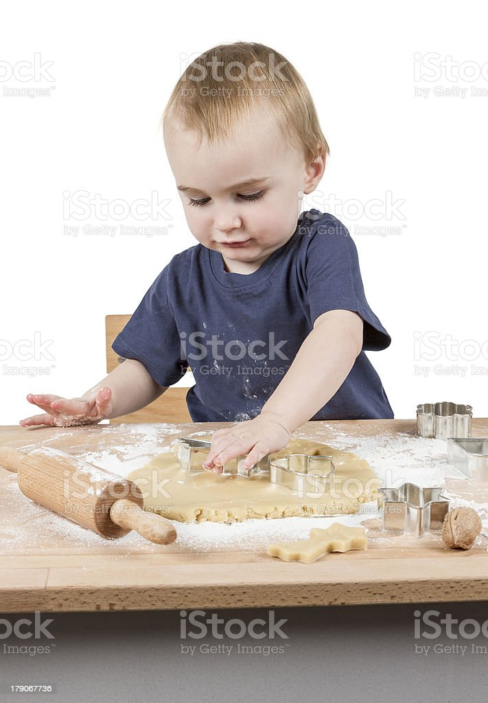 child making cookies royalty-free stock photo