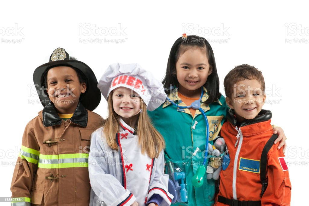 Child occupations stock photo