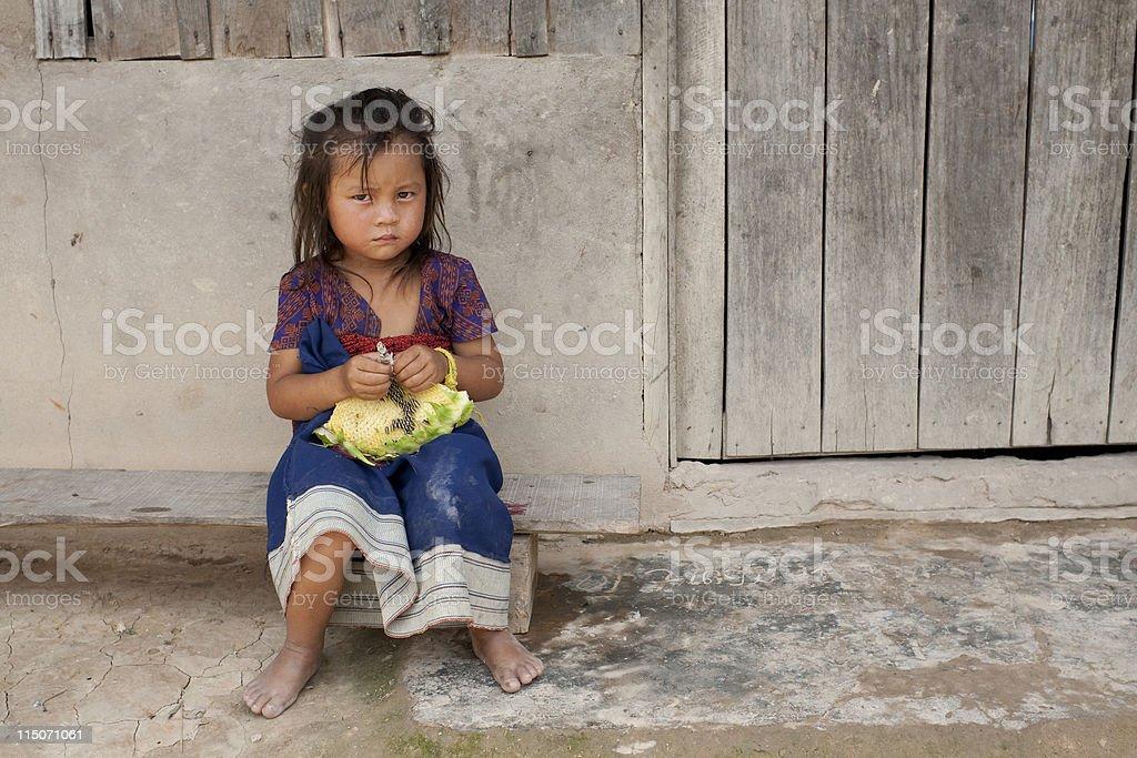 Child of Asia in Laos stock photo