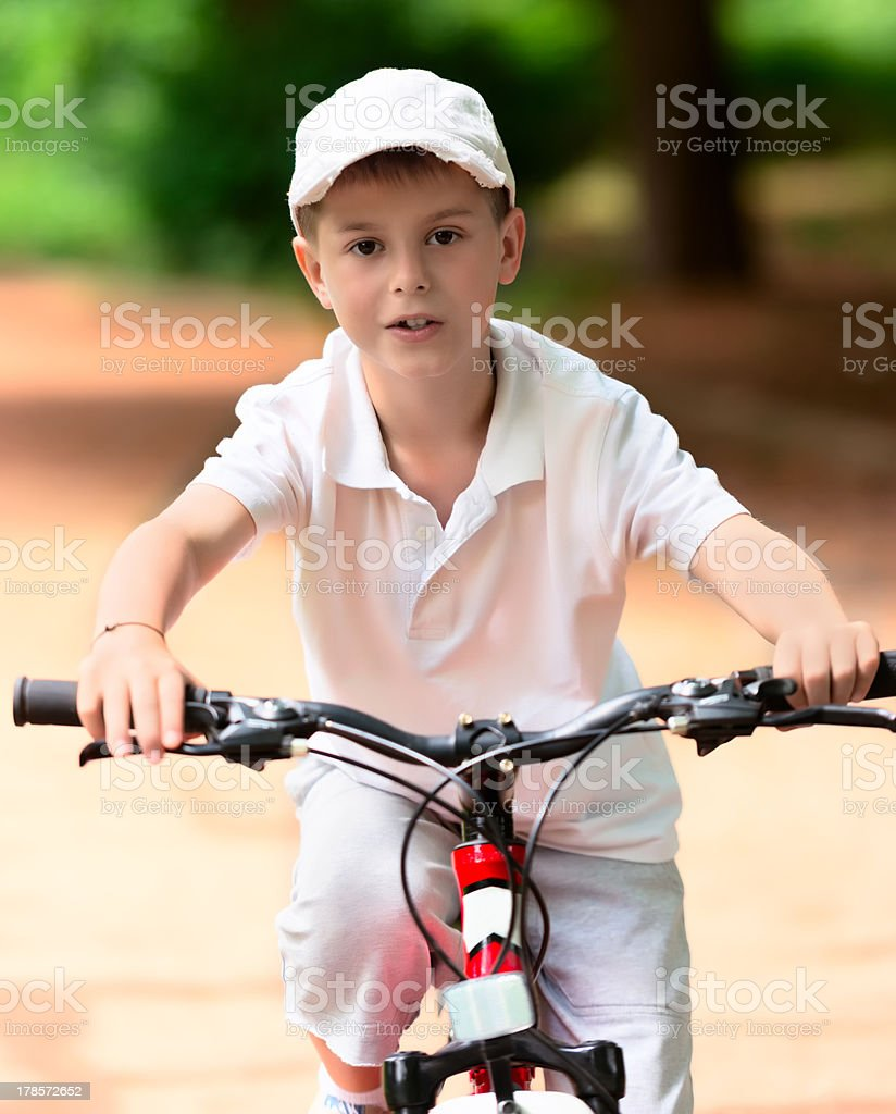 Child on a bike royalty-free stock photo