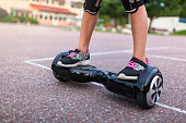 Child on a hoverboard