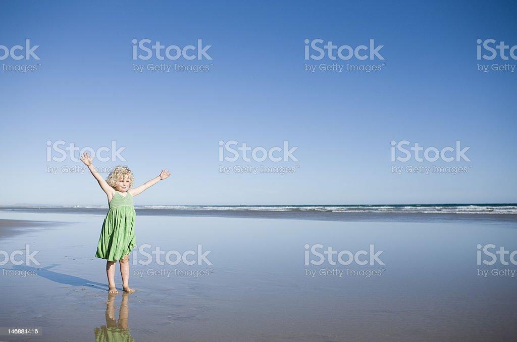 Child on Beach royalty-free stock photo
