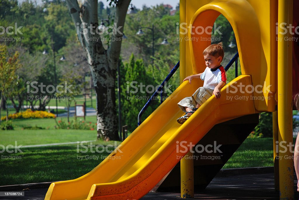Child on Playground royalty-free stock photo