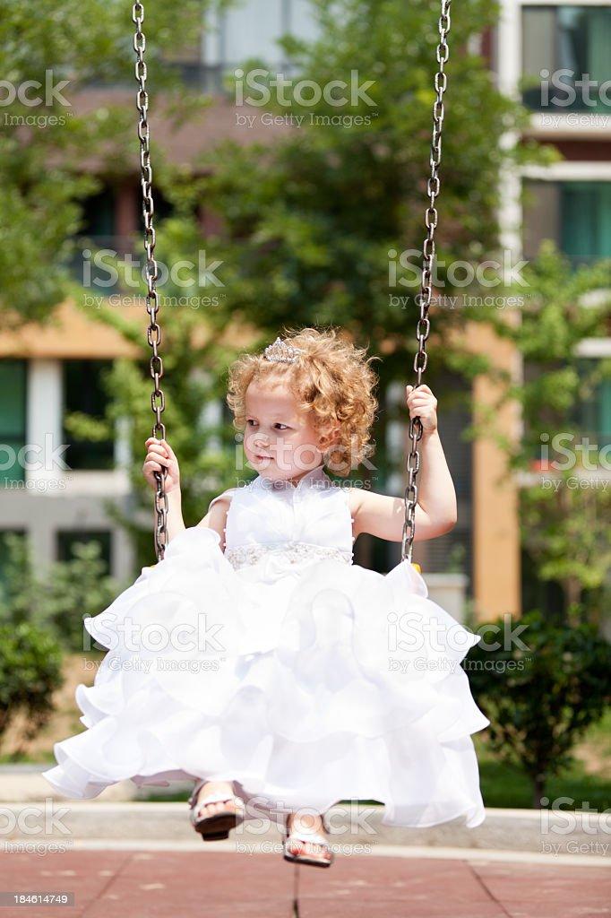 Child on Swing royalty-free stock photo