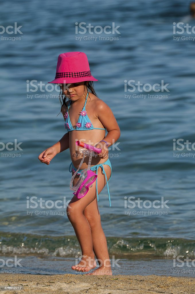 Child on the beach royalty-free stock photo
