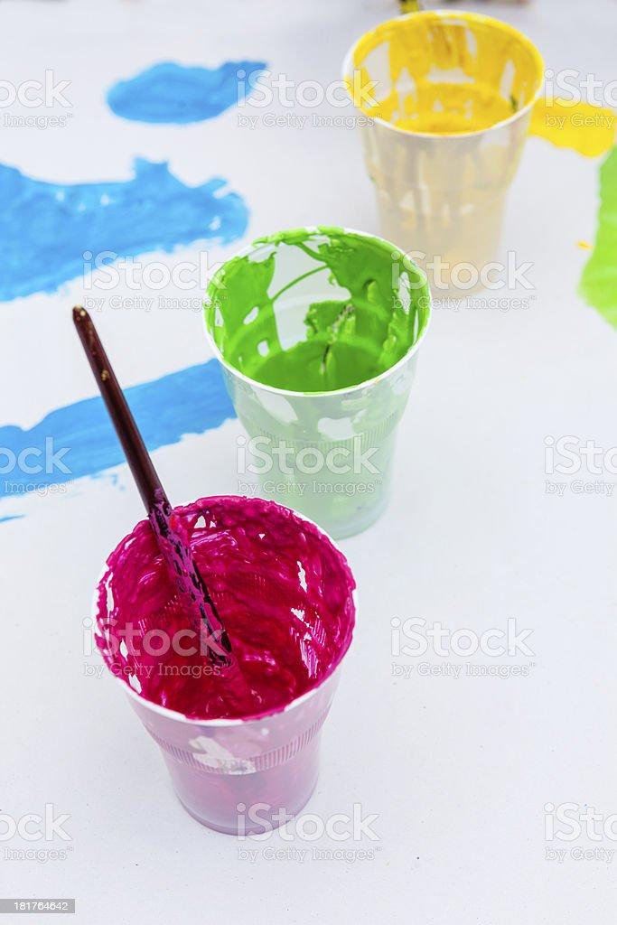 child paint royalty-free stock photo
