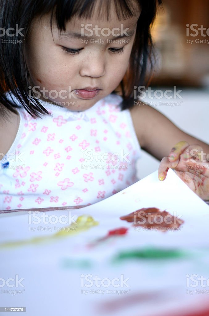 child  & painting job royalty-free stock photo