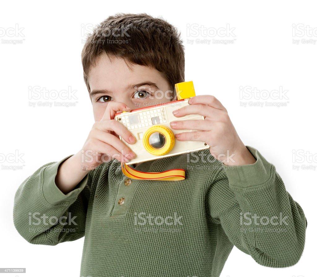 Child photographer stock photo