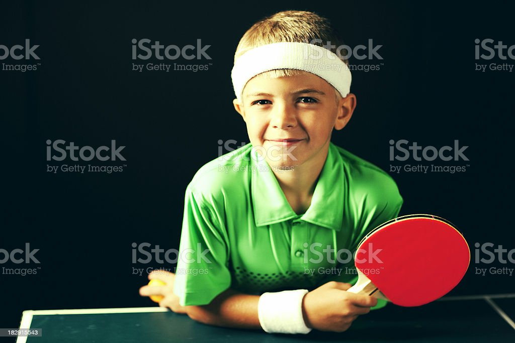 Child Ping Pong Player stock photo