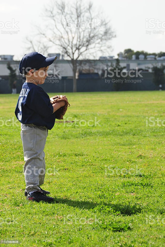 Child playing baseball royalty-free stock photo
