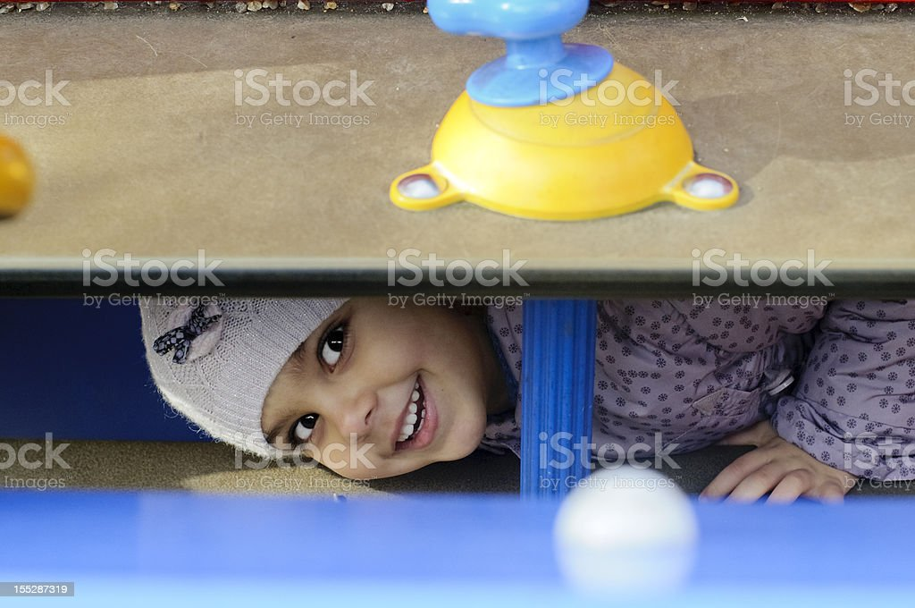 Child (4-5) Playing Hide And Seek royalty-free stock photo
