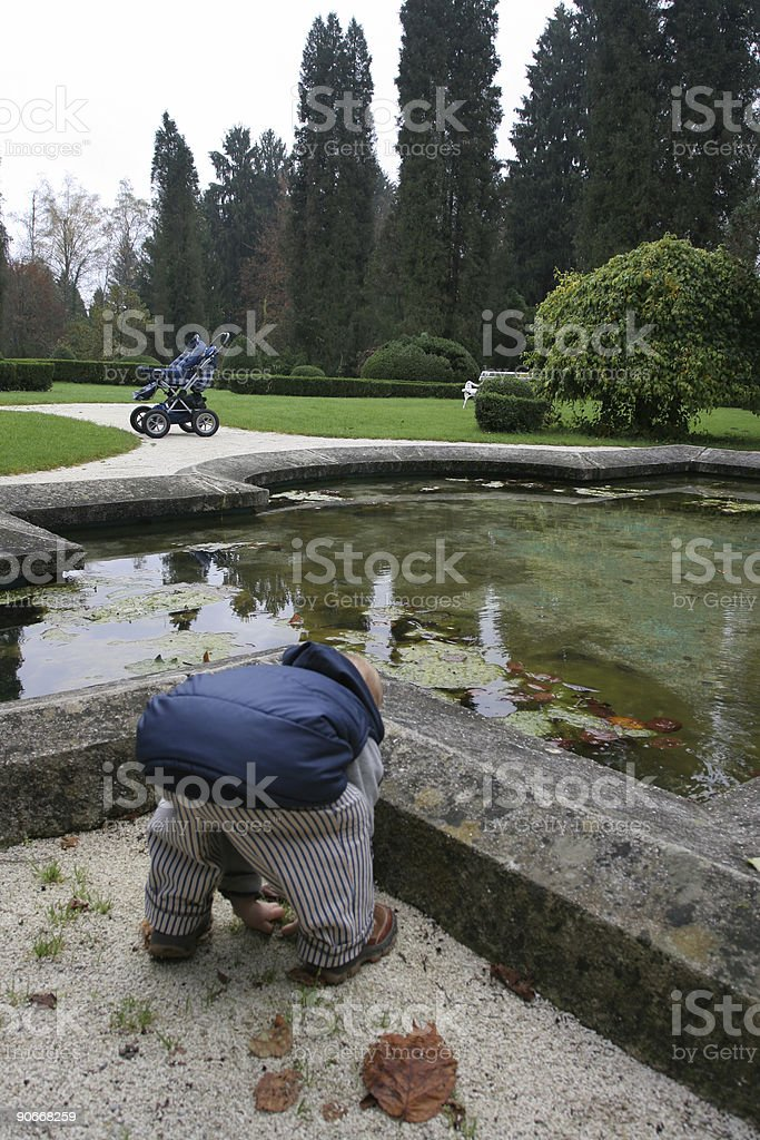 Child playing in park royalty-free stock photo