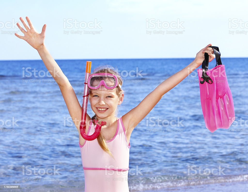 Child playing on  beach. royalty-free stock photo