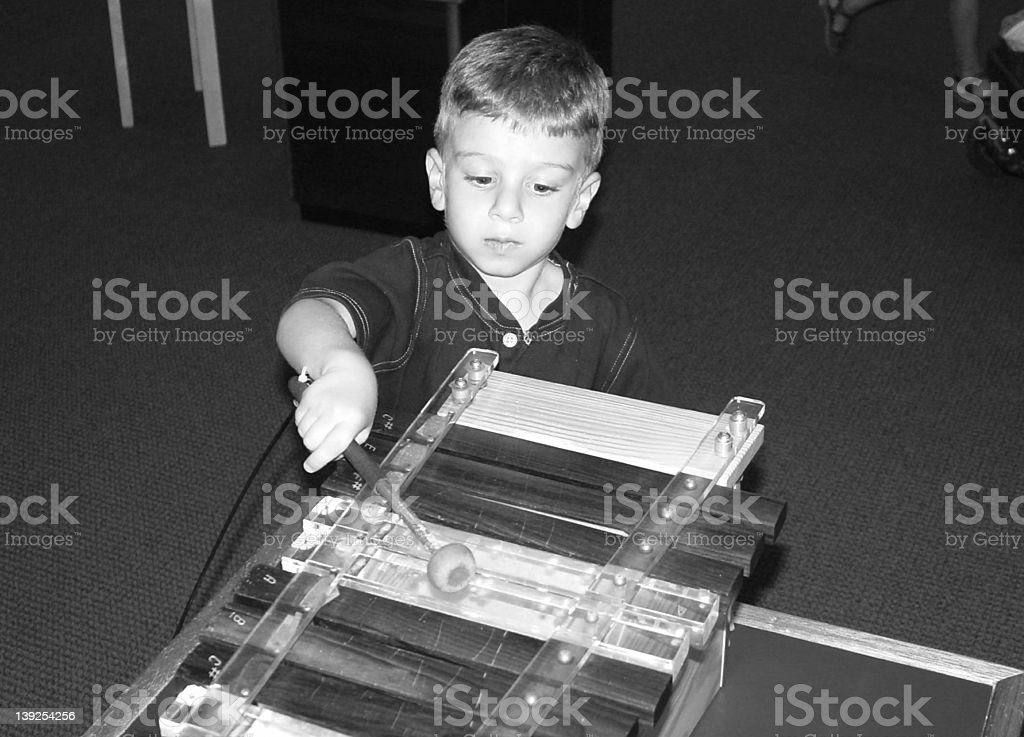 Child Playing  Xylophone royalty-free stock photo