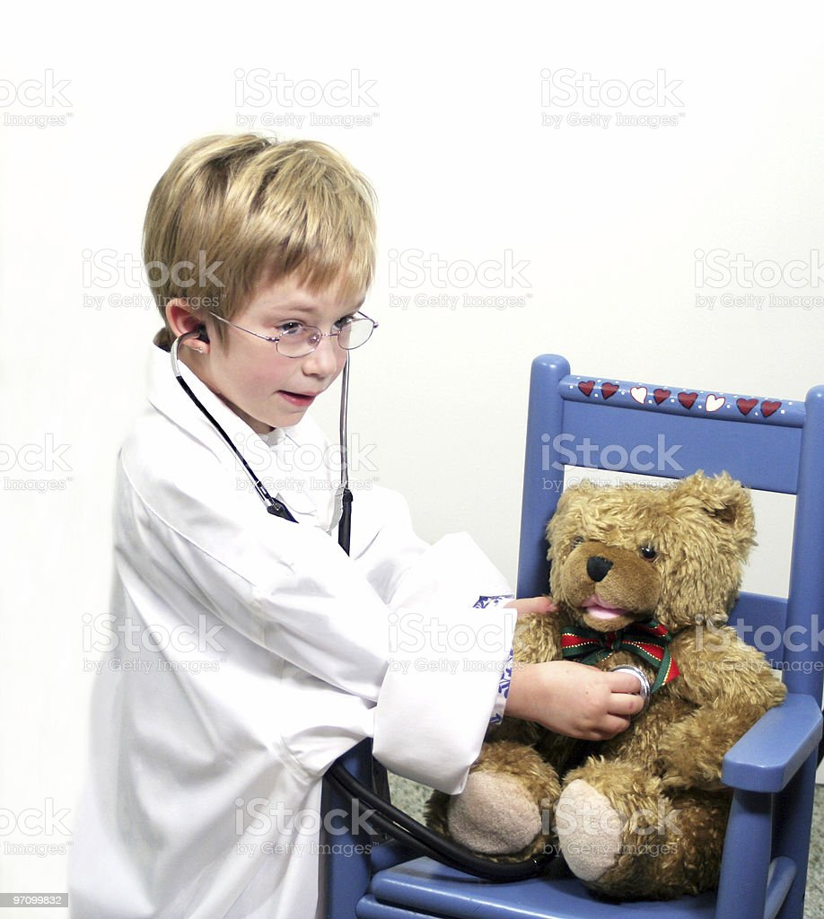 Child Plays Doctor royalty-free stock photo