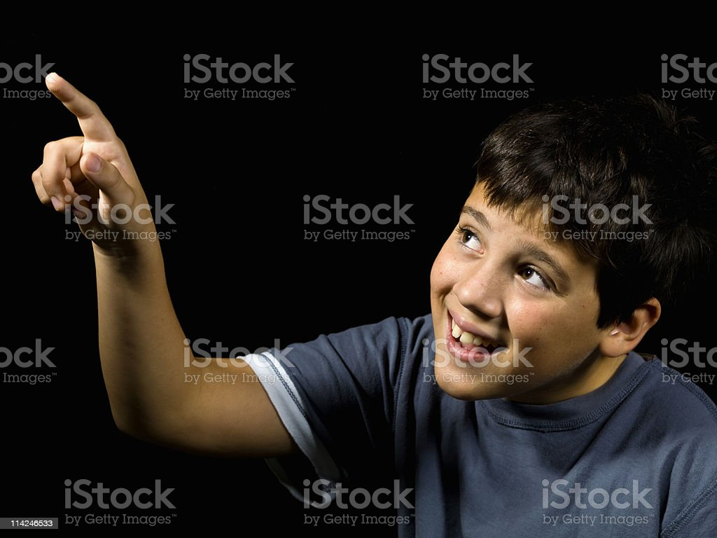 child pointing royalty-free stock photo