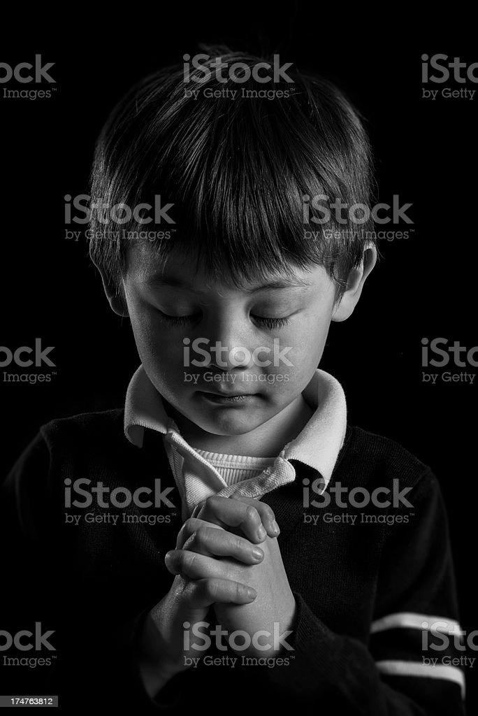 Child Praying royalty-free stock photo
