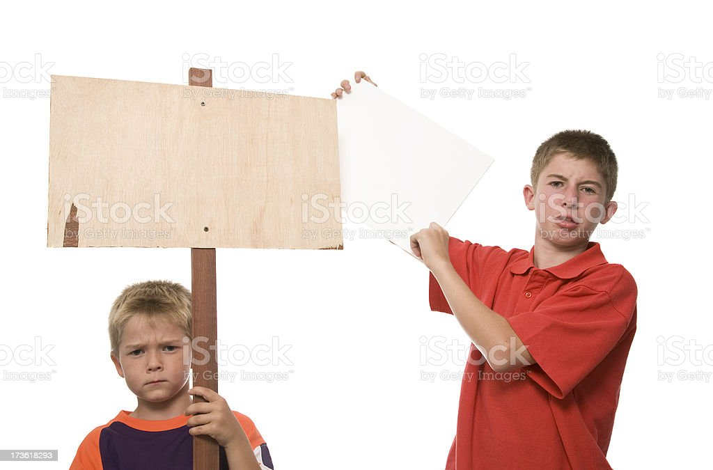Child Protest royalty-free stock photo