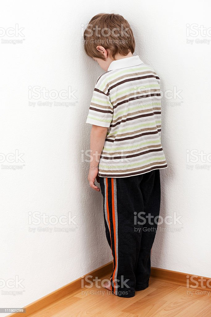 Child punishment royalty-free stock photo