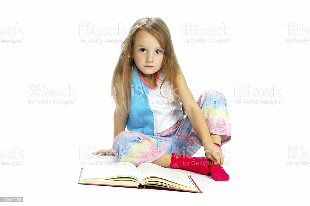 child reading book royalty-free stock photo
